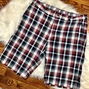 Brooks Brothers Mens Plaid Shorts Red Blue size 34